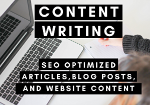 I will write  SEO optimized  articles, blog posts, and website content