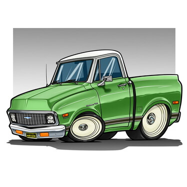 draw your car into my cartoon style with detailed artwork