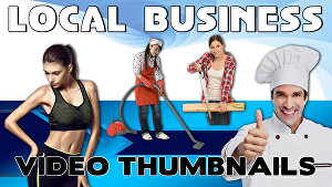 I will design a professional local business service youtube video thumbnail design