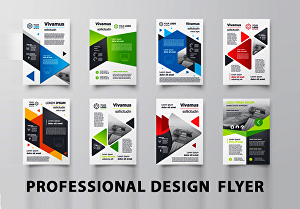 I will design a professional flyer, brochure or poster