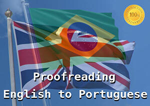 I will proofread or translate a 1050 words text from English to Brazilian Portuguese