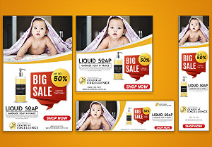 I will design professional web banner, header cover and google ads