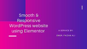 I will create a smooth & responsive device friendly WordPress website
