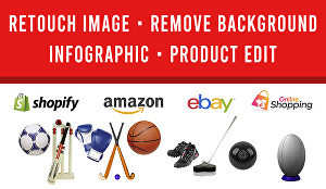 I will do online product photo editing, retouch, background removal