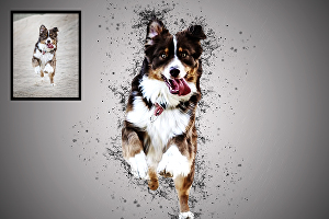 I will draw realistic portrait illustration of your pet in my style