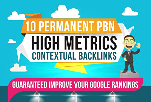I will create 10 High PA DA TF CF PBN High Metrics Contextual Backlinks
