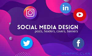 I will design any social media banners,covers,posts