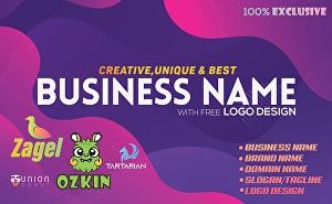 I will create best business name ideas with free logo