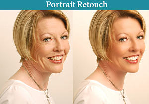 I will portrait retouch or fashion retouch 2 photos