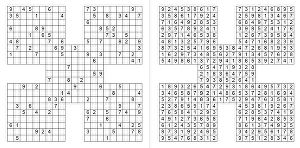I will make you 300 never been published samurai sudoku puzzles and solutions