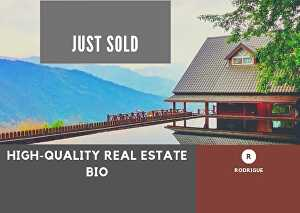 I will write an engaging and professional real estate biography or business bio for you