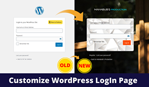 I will customize login page of WordPress website
