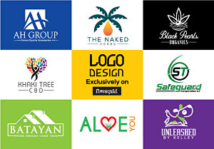 I will do flat minimalist modern logo design for your company