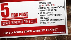 I will create the Permanent most powerful pbn with high metrics domains boost rank on top