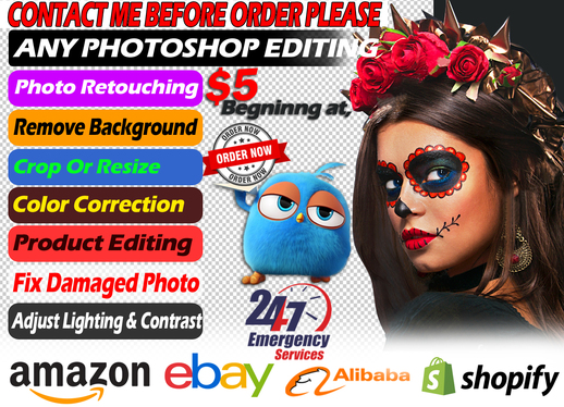 professionally retouch 5 photos