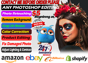 I will professionally retouch 5 photos