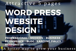 I will Design Attractive 5 Pages Business WordPress Website