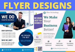 I will Do Creative flyer, brochure or poster designs