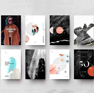 I will design  a bundle of 5 pictures for Instagram or social network