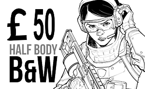 I will Draw Half Body Character In Comic Book Style for you