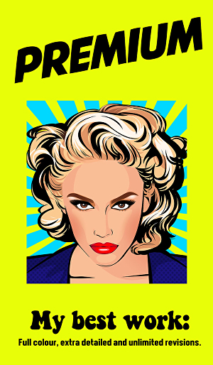 I will make comic style Pop art Portrait from your photos