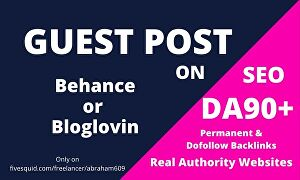 I will Provide You One Permanent dofollow Guest Post Backlinks from DA 90 website