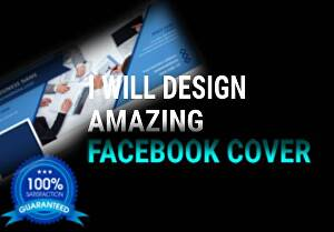 I will design amazing Facebook Cover, banner