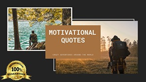 I will design unique 100 travels quotes with your logo