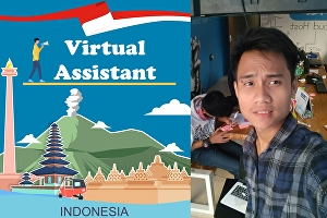 I will be your virtual assistant in Indonesia