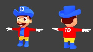 I will make a 3d character for you