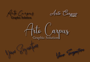 I will design minimal logo and signature logo as per your concept