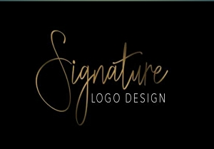 I will create a signature logo for your business or project