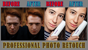 I will do professional photo retouching of models, products, portraits, or landscapes