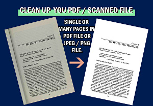 I will clean up your scanned document file
