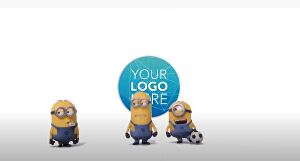 I will make this funny  minions with your logo