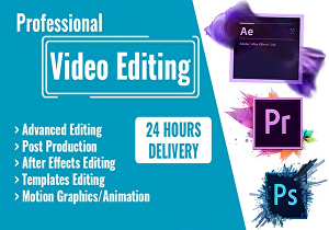 I will do best commercial video editing and post production