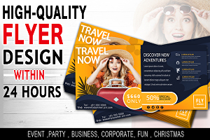 I will design professional flyer or poster with 24 hrs