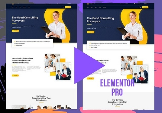 Convert Any Psd, Clone Any Web Page Into Elementor Template