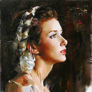 I will draw your portrait using oil, acrylic, pastel, pencil