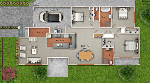 I will Create colored and Realistic 2D Floor Plan for Real Estate agents