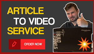 I will convert article, blog text,script to video with voice over
