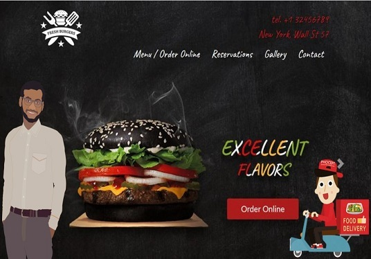 build a restaurant website with online food ordering