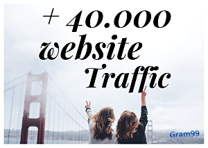 I will drive real 40k website usa traffic visitors for 20 days