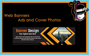 I will Design web banners, ads, cover photos