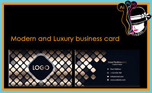I will Design modern and luxury Business card