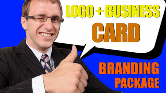 design a professional custom logo and business card for your brand
