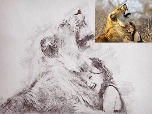 turn your photo into realistic Pencil Sketch