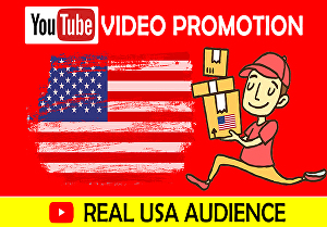 I will do organic youtube promotion to targeted USA audience