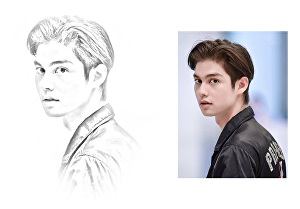 I will convert your image to pencil sketch
