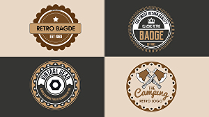 I will design a creative retro vintage badges Logo